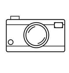 Photocamera icon vector