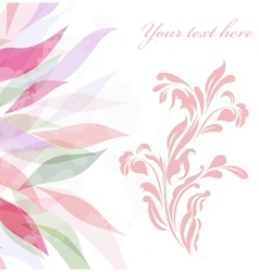 Vintage retro flower blossom vector