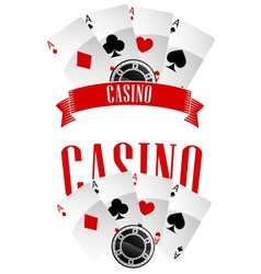 Casino signs or emblems vector image