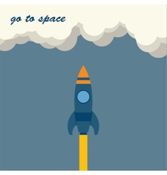 Rocket go to space vector