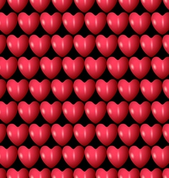 3d red hearts seamless pattern vector