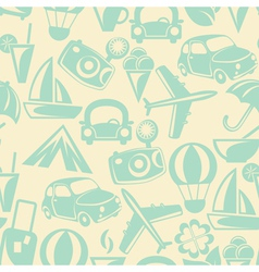 Traveling seamless pattern vector