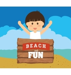 Beach design vector