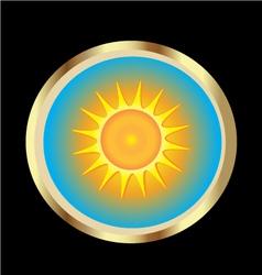 sun icon vector image