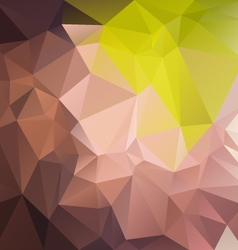 Natural green grown abstract polygon triangular vector