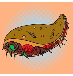 Taco pop art vector