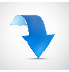 Abstract 3d Blue Arrow Icon vector image vector image