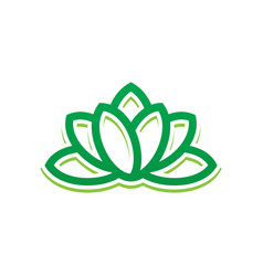 abstract leaf lotus eco logo vector image vector image
