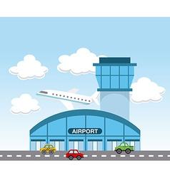 Airport terminal vector