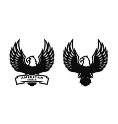 american eagle two versions vector image vector image