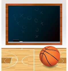 Basketball chalkboard vector