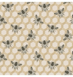 bee seamless pattern vector image vector image