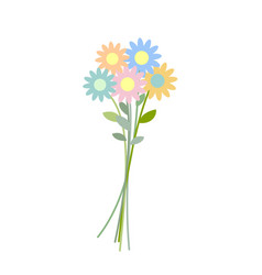 bouquet wildflowers isolated flower on white vector image