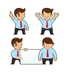 Cartoon Businessman Set vector image vector image