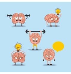Cartoon human brain vector