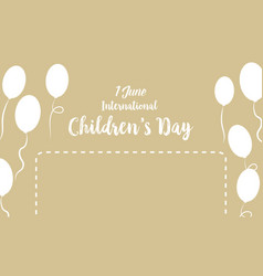 Childrens day background with balloon vector