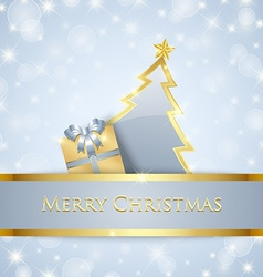 Christmas tree and gift decoration vector