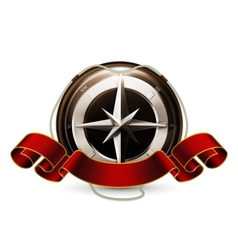 Compass Emblem vector image vector image
