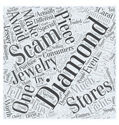 Diamond scams word cloud concept vector