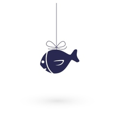 Fish on the hook vector