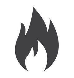 Flammable symbol glyph icon logistic vector