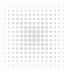 Grey comic pattern dots on white background vector image vector image