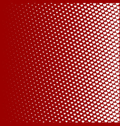 halftone pattern background heart shapes vintage vector image vector image