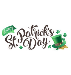 happy st patrick s day isolated on a white vector image