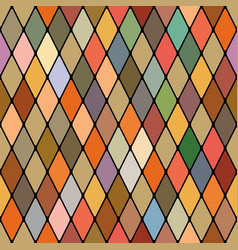 harlequins golden autumnal seamless pattern vector image