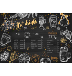Hot drinks winter menu 1 vector
