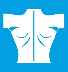 Human back icon white vector