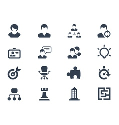 Human resource icons vector image