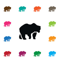 Isolated polar icon bear element can be vector