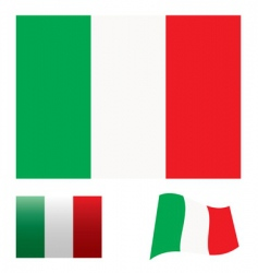 Italy flag set vector image