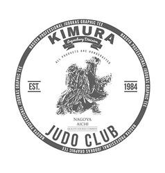 Judo club t-shirt graphics label vector