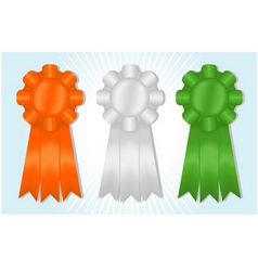 orange white and green ribbons vector image
