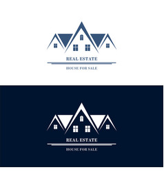 real estate logo design house abstract concept vector image vector image