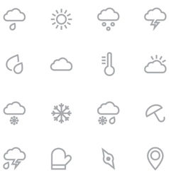 Set outline weather icons for web and mobile vector