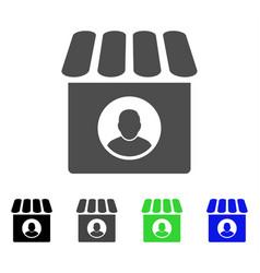 Shop seller flat icon vector
