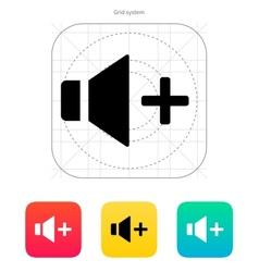 Speaker icon Volume plus vector image vector image