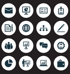 Trade icons set collection of earth group vector