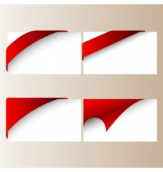 vector red corner ribbons vector image vector image