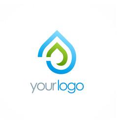 water drop eco logo vector image