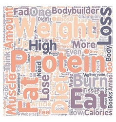 Why high protein diets won t help you lose weight vector