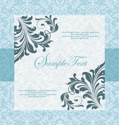 blue wedding card vector image