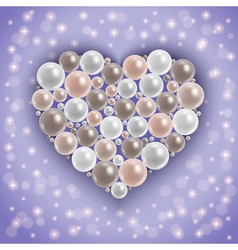 Heart from pearls vector