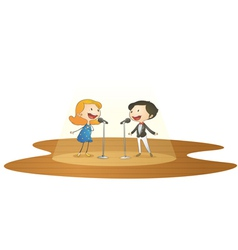 kids and mic vector image
