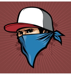 Man with bandana vector