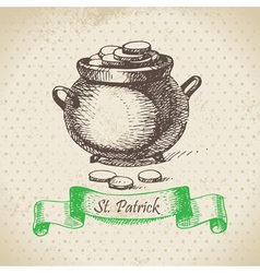 St patricks day vintage background vector