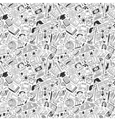 School education - seamless pattern vector image